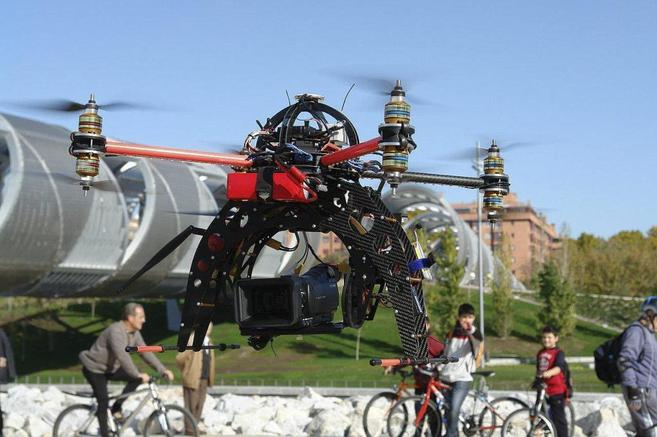 octocoptero drone madrid
